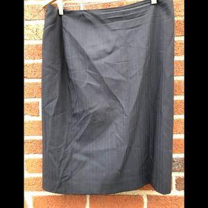 Ann Taylor Black Pencil Skirt Size 12